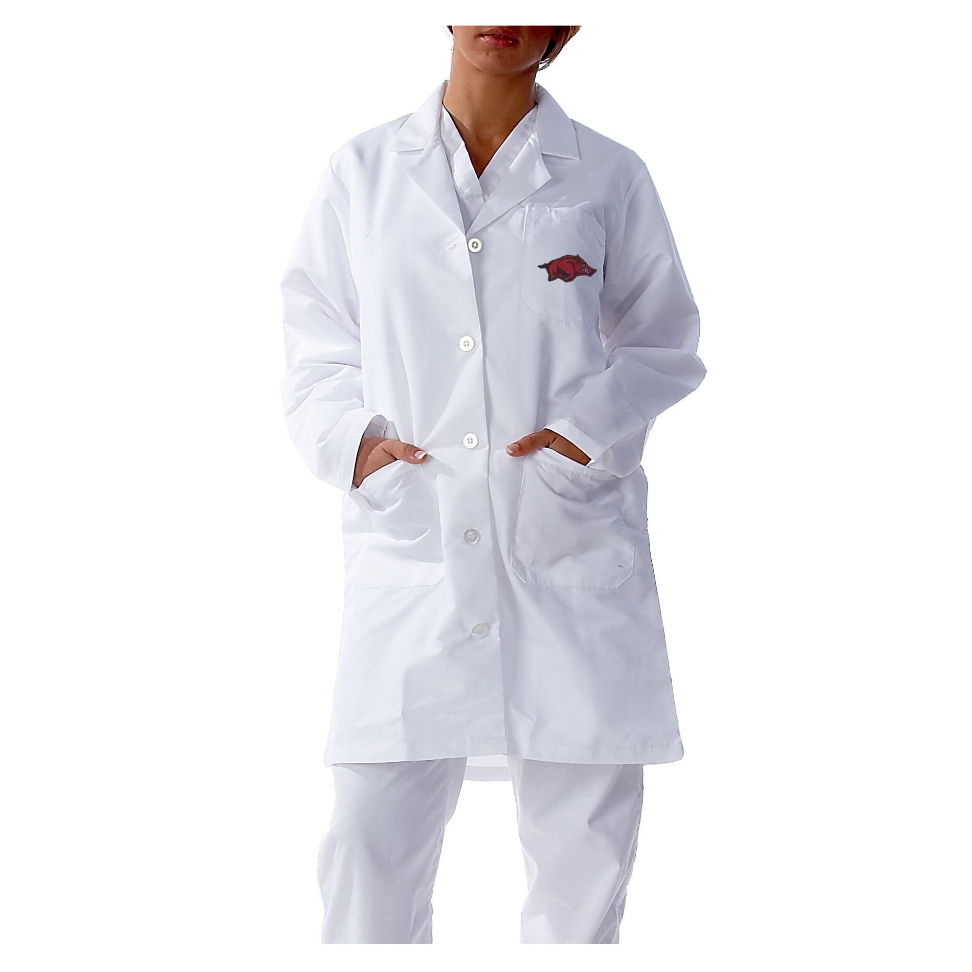 Gelscrubs Unisex Arkansas Razorbacks Long Labcoat