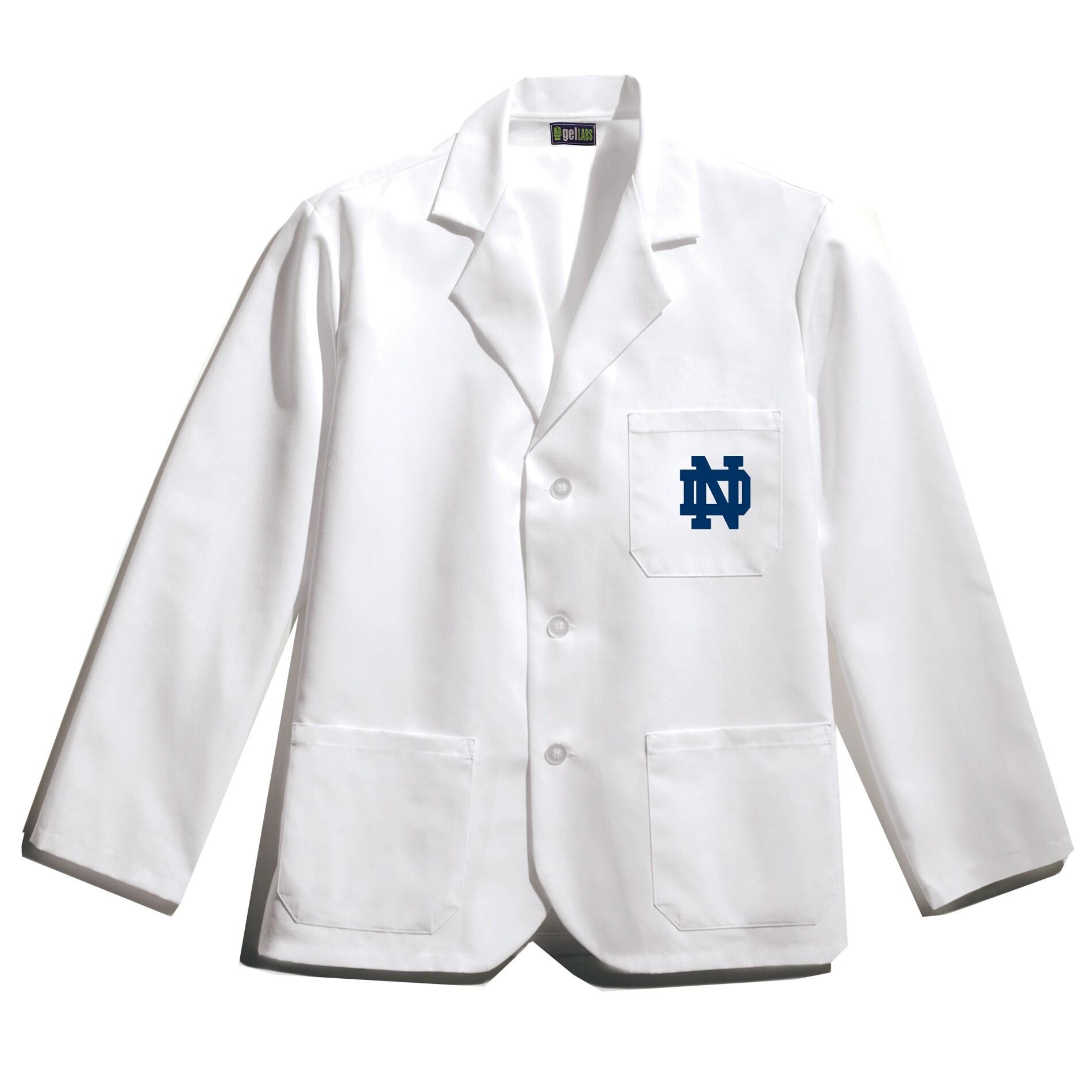 Gelscrubs Unisex NCAA Notre Dame Fighting Irish Wrinkle-Free Short Labcoat