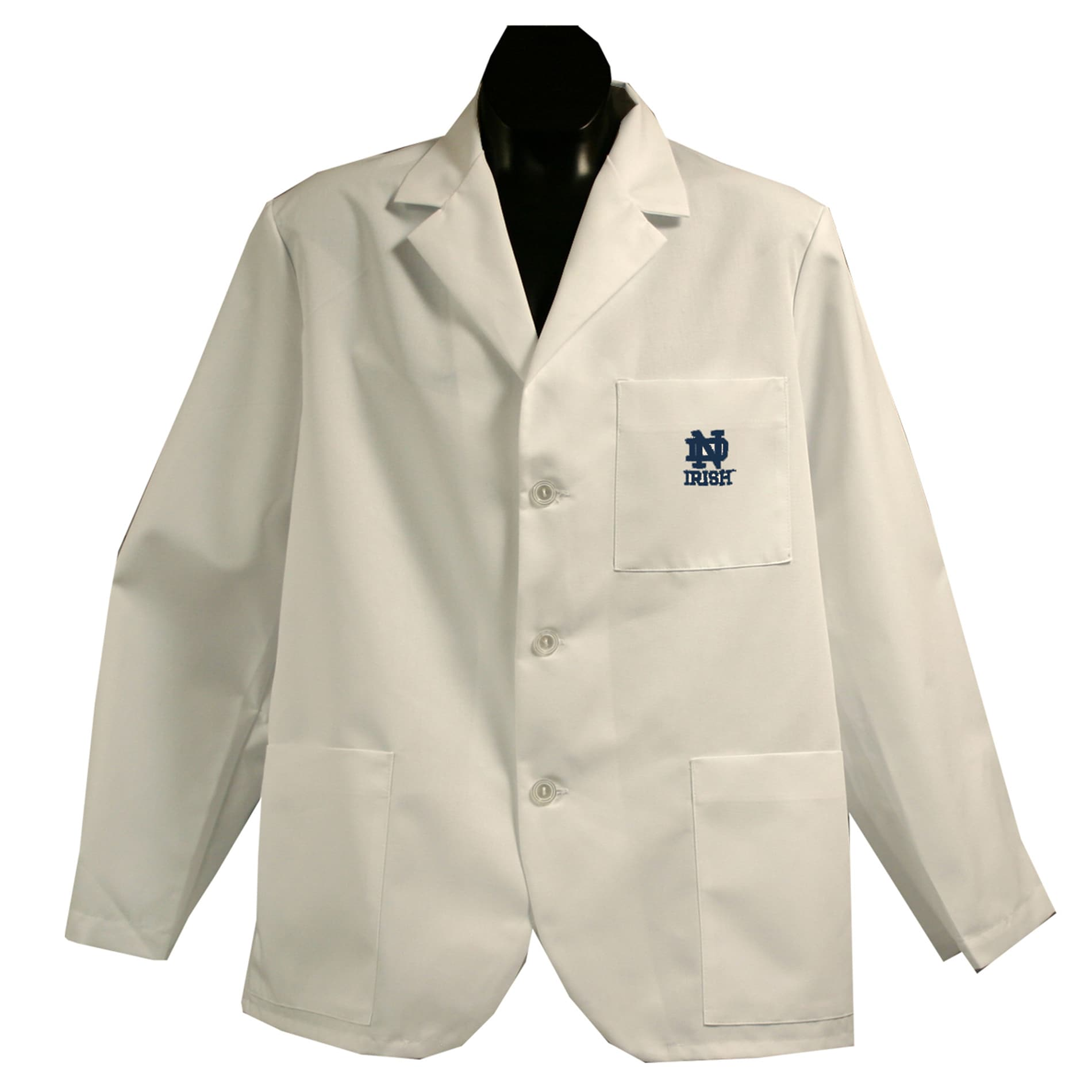 Gelscrubs Unisex NCAA Notre Dame Fighting Irish Short Labcoat