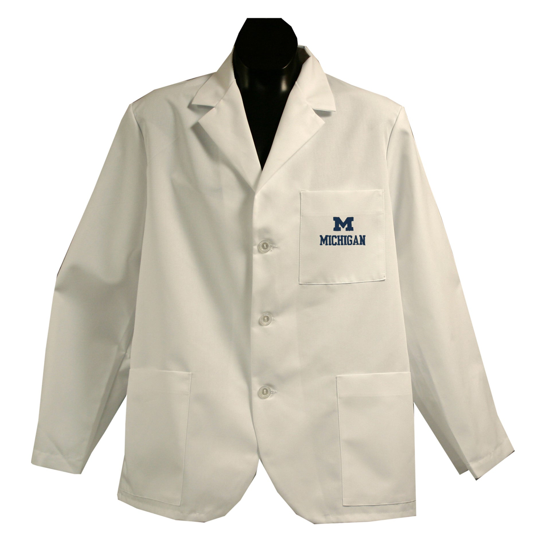 Gelscrubs Unisex NCAA Michigan Wolverines Short Labcoat - Thumbnail 0