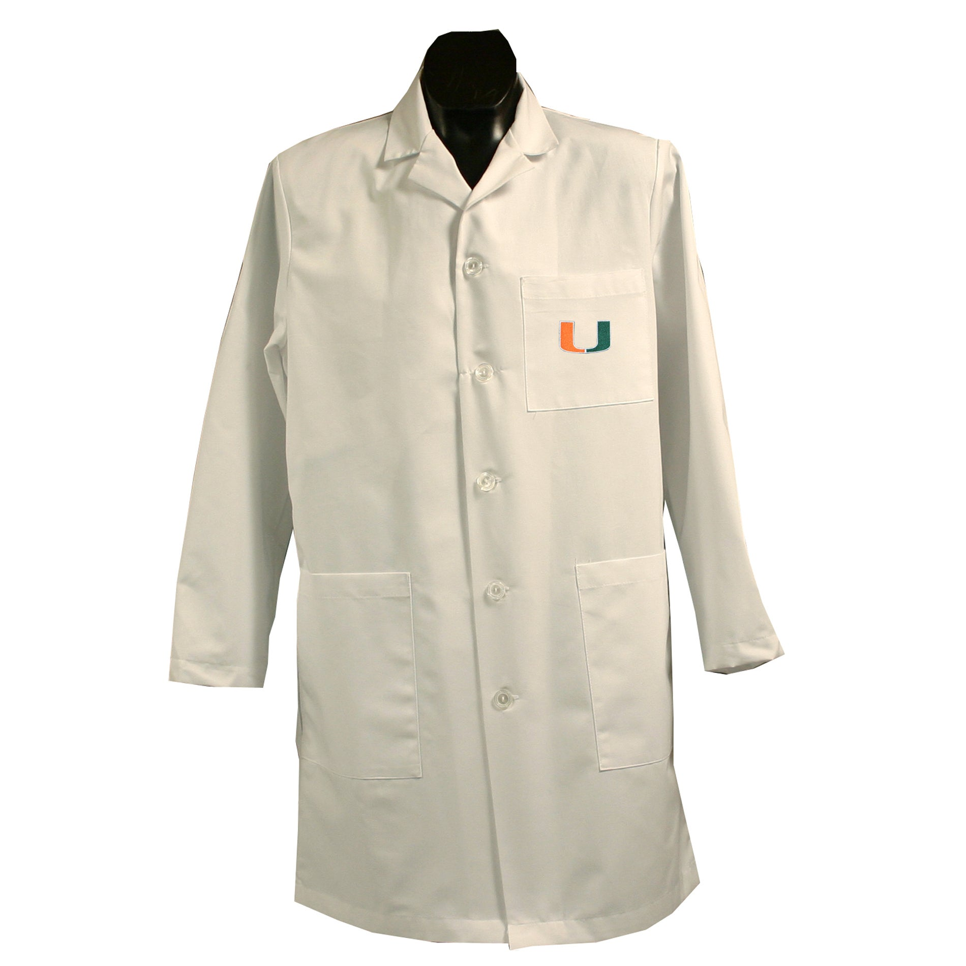 Gelscrubs Unisex NCAA Miami Hurricanes Long Labcoat