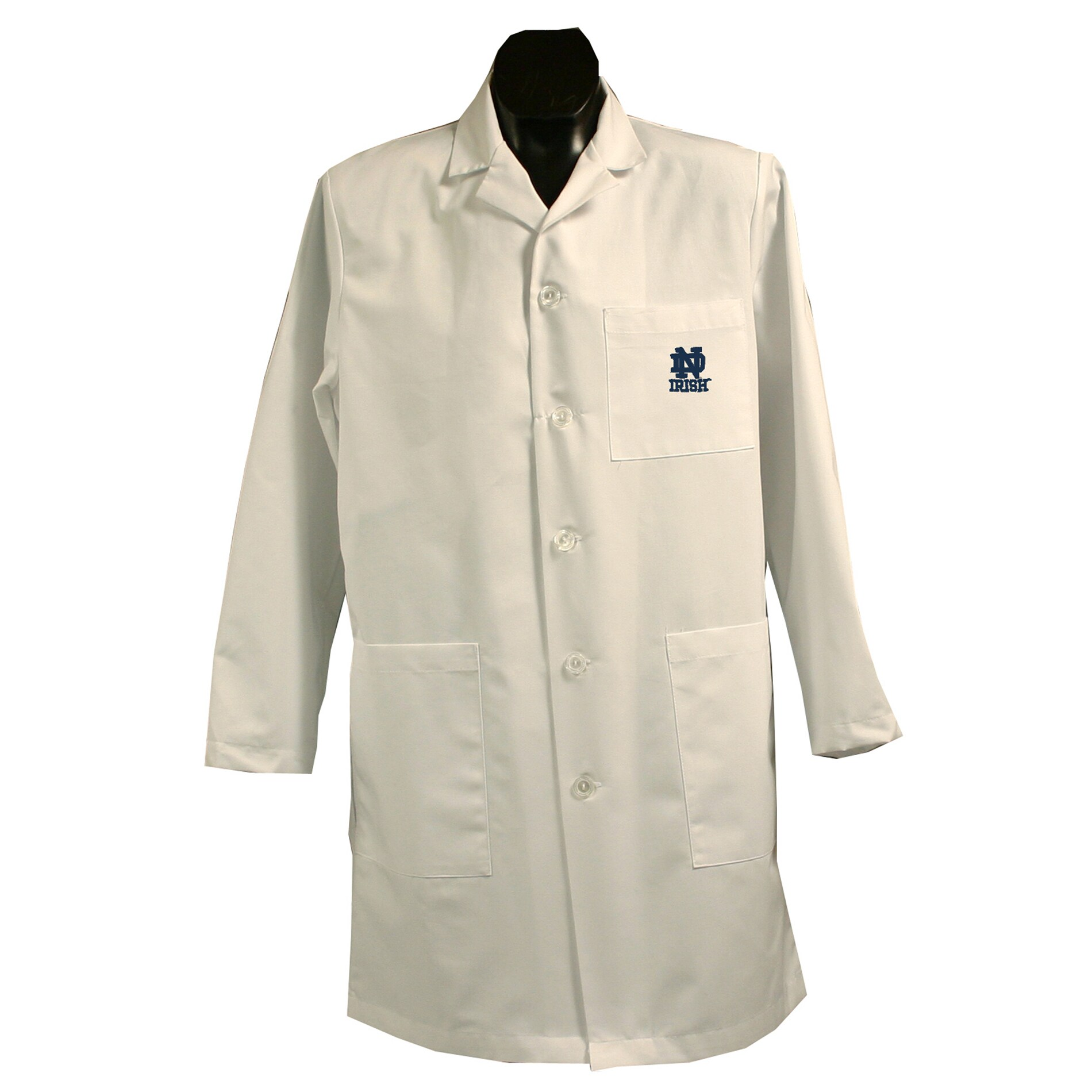 Gelscrubs Unisex Machine-Washable NCAA Notre Dame Fighting Irish Long Labcoat