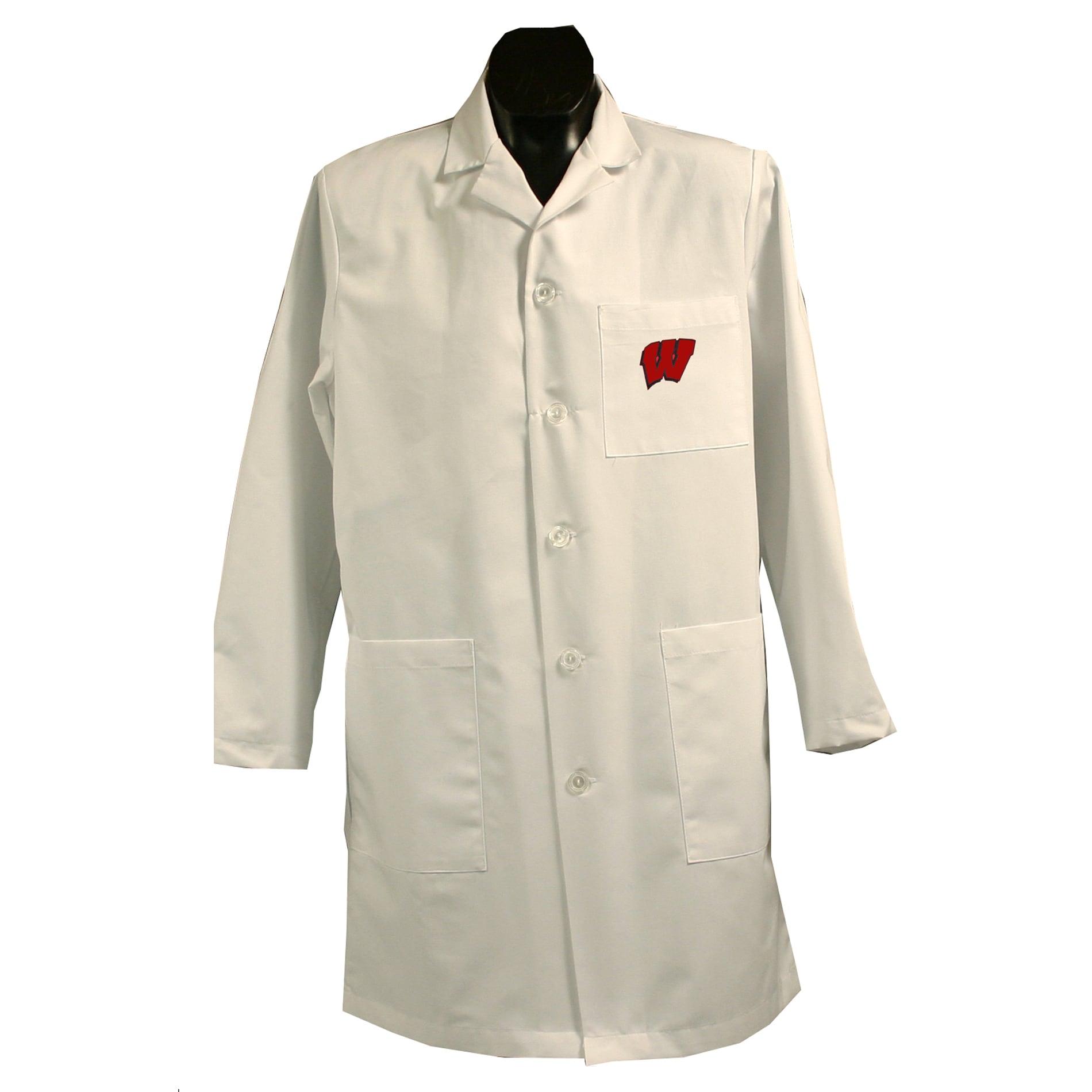 Gelscrubs Unisex NCAA Wisconsin Badgers Long Labcoat
