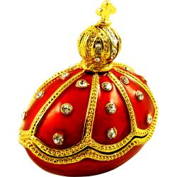 Objet d'Art 'Alexander III Emperor of Russia' Egg Trinket Box - Thumbnail 0