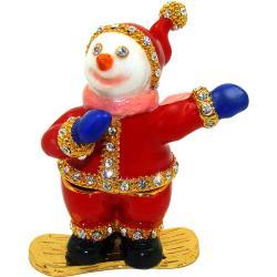 Objet d'art 'Shredman' Snowboarding Snowman Trinket Box