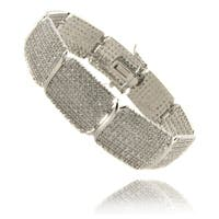 Finesque Silverplated 3ct TDW Diamond 7.25-inch Bracelet - Silver