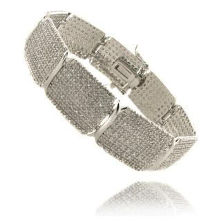 Finesque Silverplated 3ct TDW Diamond 7.25-inch Bracelet