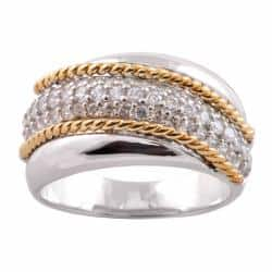 Michael Valitutti 14k Gold and Silver Cubic Zirconia Ring|https://ak1.ostkcdn.com/images/products/6388136/78/261/Michael-Valitutti-Signity-14k-Gold-and-Silver-Cubic-Zirconia-Ring-P14001136.jpg?impolicy=medium