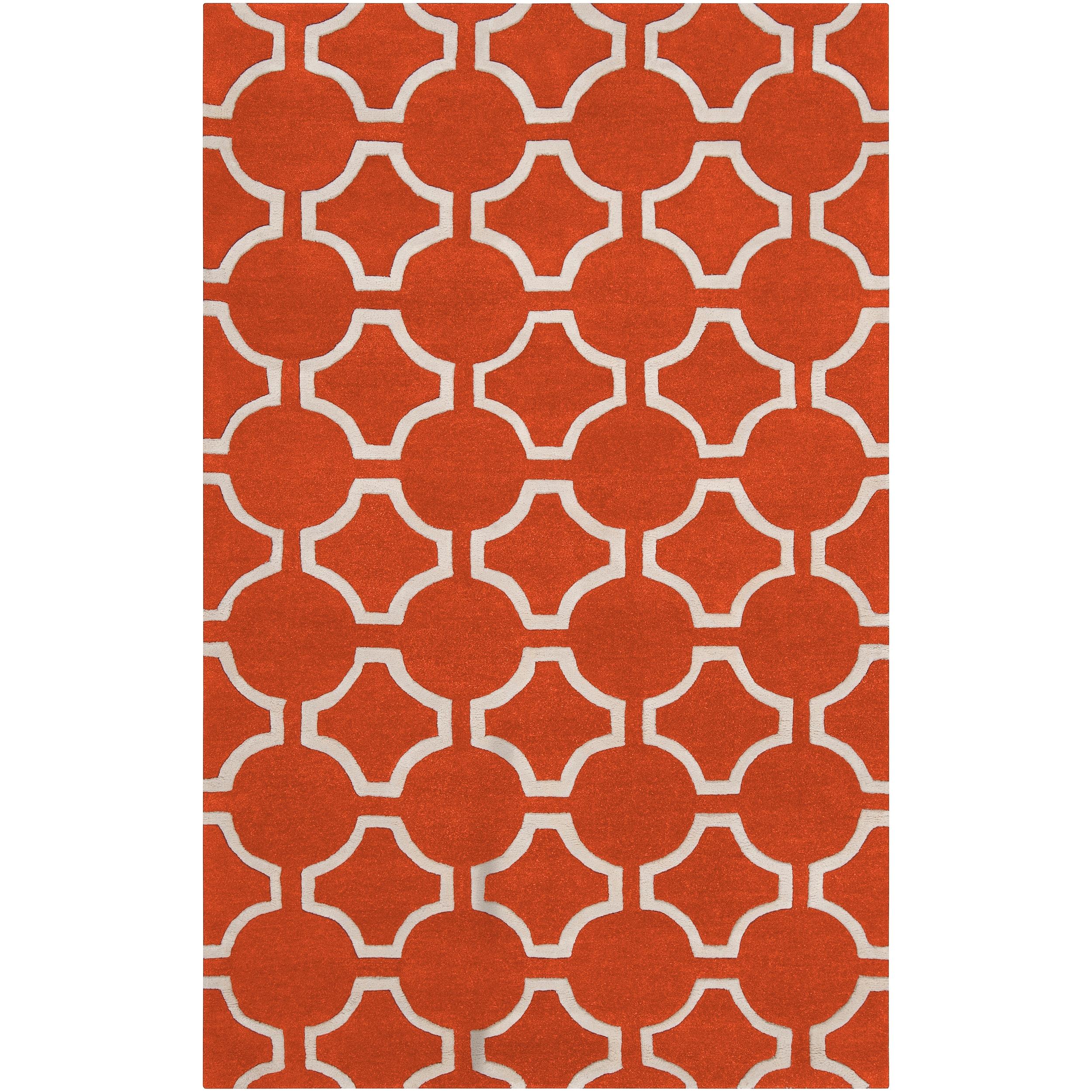 Hand-tufted Petersburg Geometric Trellis Wool Area Rug (5' x 8')