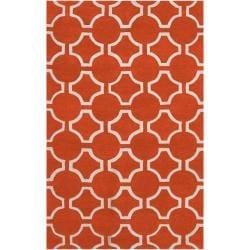 Hand-tufted Petersburg Geometric Trellis Wool Area Rug (5' x 8') - Thumbnail 0