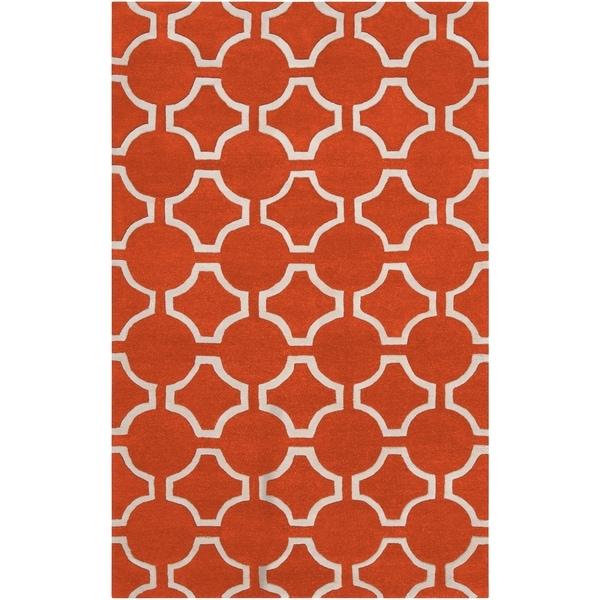 Hand-tufted Petersburg Geometric Trellis Wool Area Rug - 5' x 8'