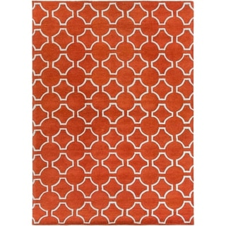 Hand-tufted Petersburg Geometric Trellis Wool Area Rug - 8' x 11'