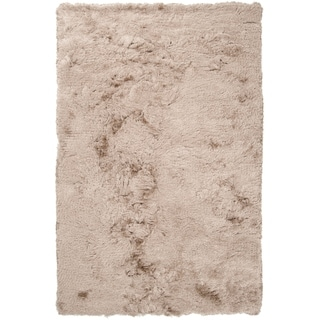Martinsville Hand-woven Shimmery Shag Area Rug - 5' x 8'