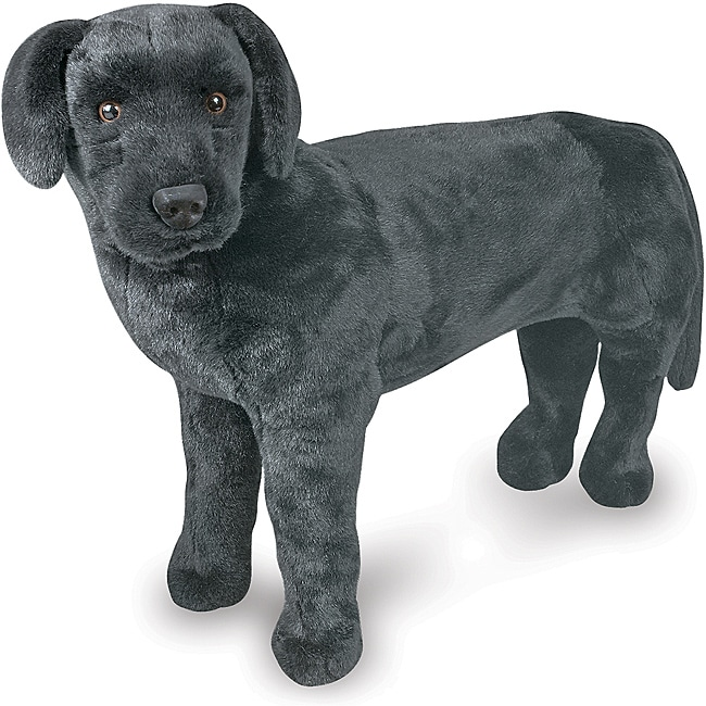 Melissa & Doug Plush Black Labrador - Thumbnail 0