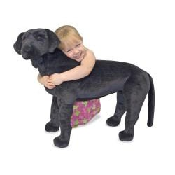 Melissa & Doug Plush Black Labrador - Thumbnail 1