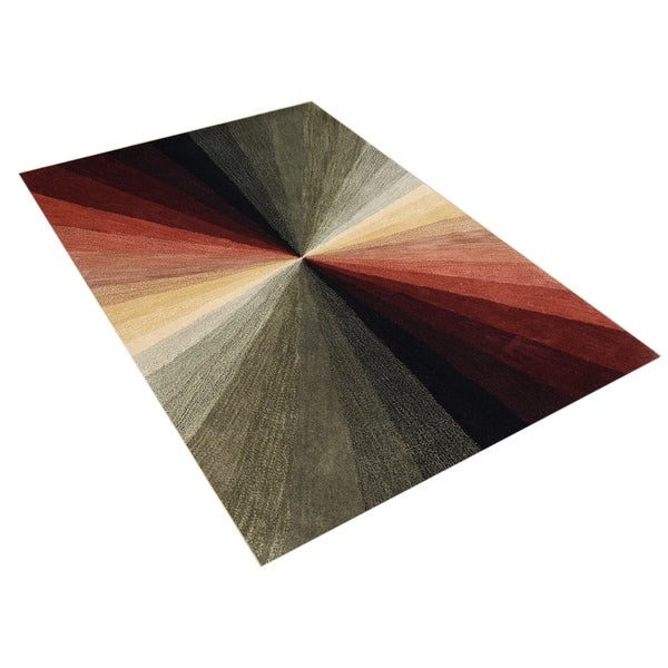 Alliyah Handmade Black New Zealand Blend Wool Rug (8' x 10') - 8' x 10'