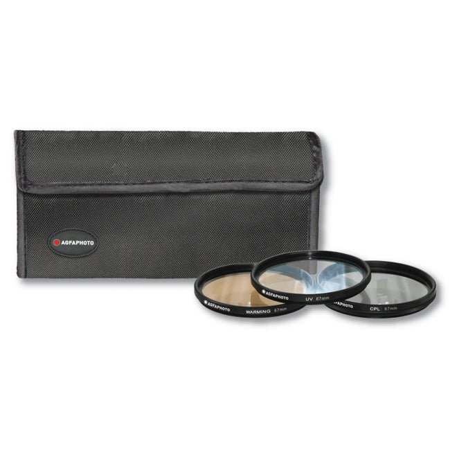 AGFA 67-millimeter Lens Filter Kit with Black Soft Carrying Case