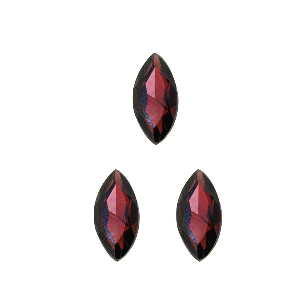 Glitzy Rocks Marquise 6x3mm 1/3ct TGW Garnet Stones (Set of 3)