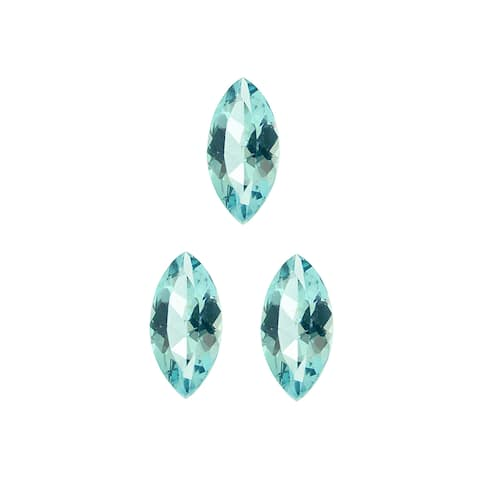 Glitzy Rocks Marquise 6x3mm 3/4ct TGW Blue Topaz Stones (Set of 3)