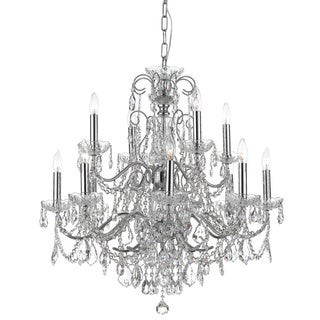 Crystorama Imperial Collection 12-light Chrome/ Crystal Chandelier