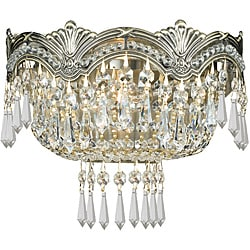 Crystorama Majestic Collection 2-light Historic Brass Wall Sconce