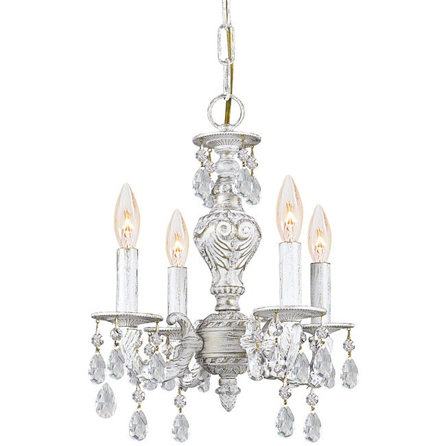 Crystorama Sutton Collection 4-light Antique White Chandelier