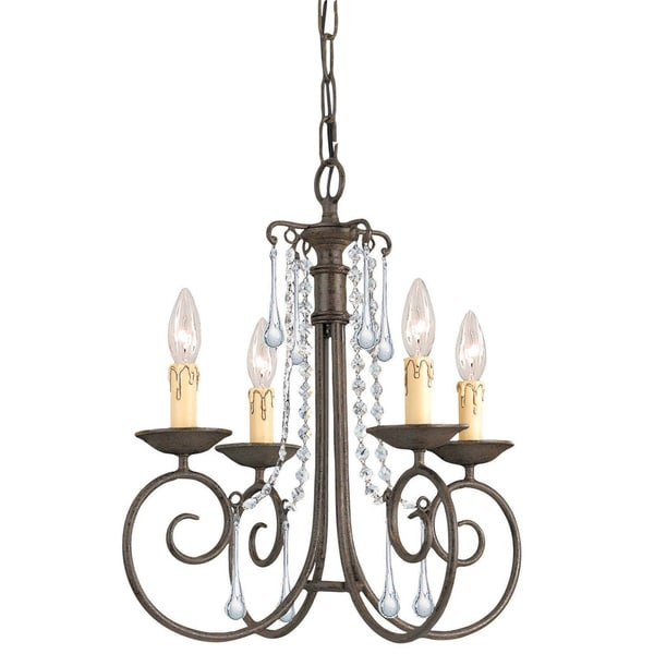 Crystorama Soho Collection 4-light Dark Rust Chandelier