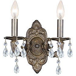 Crystorama Sutton Collection 2-light Venetian Bronze Wall Sconce