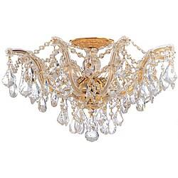 Crystorama Maria Theresa Collection 5-light Gold Semi-flush Mount