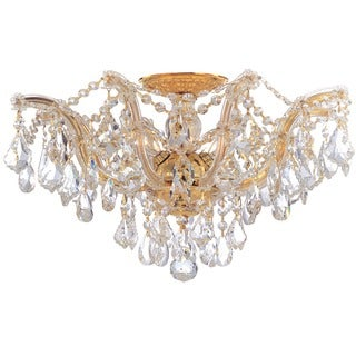 Crystorama Maria Theresa Collection 5-light Gold Semi-flush Mount