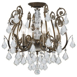 Crystorama Regis Collection 6-light English Bronze Semi-flush Mount