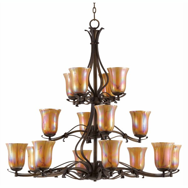 Triarch International LaPerla Harvest Bronze 16-light  Chandelier