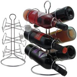 VIP Wine Accessories Opener Set with 6-Bottle Wine Rack - Thumbnail 2