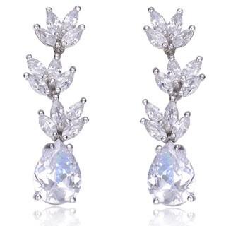 Collette Z Sterling Silver Clear Cubic Zirconia Drop Earrings