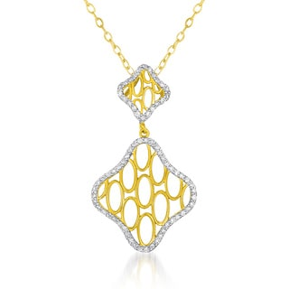 Collette Z Goldplated Sterling Silver Clear Cubic Zirconia Diamond Shape Necklace