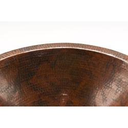 Premier Copper Products Master Bath Oval Under Counter Hammered Copper Bathroom Sink