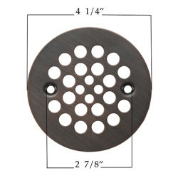Premier Copper Products Round 4.25-inch Oil Rubbed Bronze Shower Drain Cover