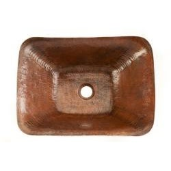 Premier Copper Products Rectangle Hand-forged Old World Copper Vessel Sink - Thumbnail 1