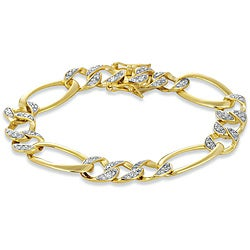 Collette Z Goldtone Sterling Silver Cubic Zirconia Link Bracelet