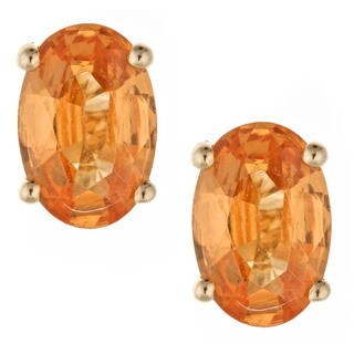 Anika and August 14k Yellow Gold Spessartite Stud Earrings