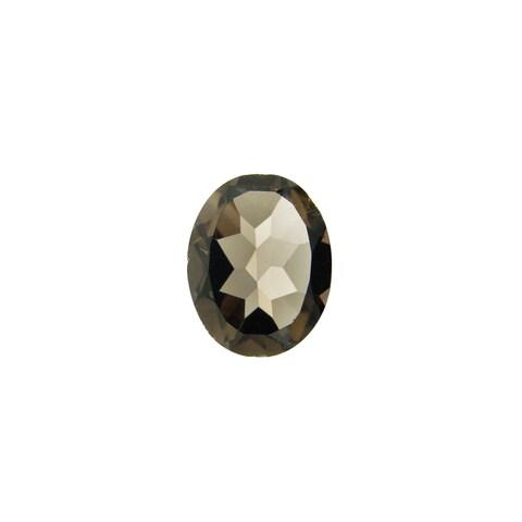 Glitzy Rocks 10x8 Oval-cut Smokey Quartz Stone (2 1/3ct TGW)