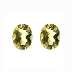 Glitzy Rocks 9x7 Oval-cut Citrine Stones (3 1/4ct TGW) (Set of 2)