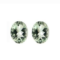 Glitzy Rocks 9x7 Oval-cut Green Amethyst Stones (3 1/3ct TGW) (Set of 2)