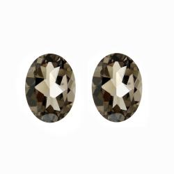 Glitzy Rocks 8x6 Oval-cut Smokey Quartz Stones (2 1/10ct TGW) (Set of 2)