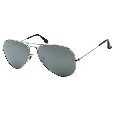 Ray-Ban Aviator Unisex Silver Frame Silver Mirror Lens Sunglasses