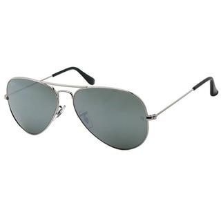Ray-Ban Aviator RB 3025 Unisex Silver Frame Silver Mirror Lens Sunglasses