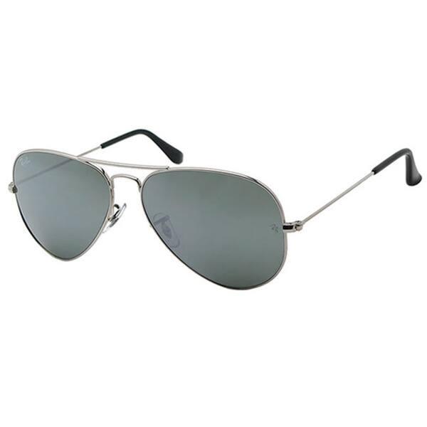ba2b6a16ea Ray-Ban Aviator Unisex Silver Frame Silver Mirror Lens Sunglasses
