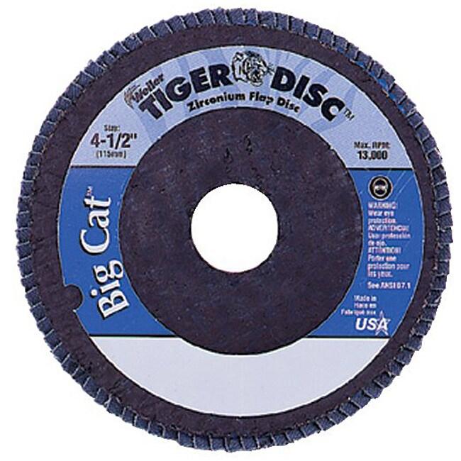 Weiler 4.5-inch Tiger Disc Big Catabr Flap Phenolic