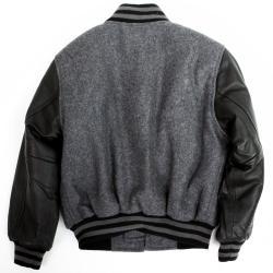 United Face Boy's Leather Sleeve Baseball Jacket - Thumbnail 1
