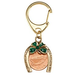 American Coin Treasures Irish Penny Horseshoe Lotto Scratcher Key Chain